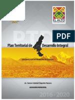 Plan Territorial de Desarrollo Integral El Alto 2016 2020