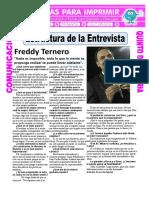 Ficha Estructura de La Entrevista Para Quinto de Primaria