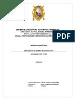 Fase Vi - Selección de Los Diseños de Investigación