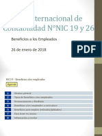 Norma Internacional de Contabilidad  N°19, NIIF 2, NIC 26