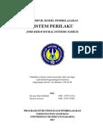KELOMPOK MODEL PEMBELAJARAN SISTEM PERILAKU (THE BEHAVIOURAL SYSTEMS FAMILY)