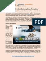 Rising Drug Overdose Deaths Up Organ Transplants