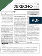 El Derecho - Boleto de compra venta inmobiliaria Argentina