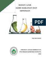 Bahan Ajar Analisa Makanan