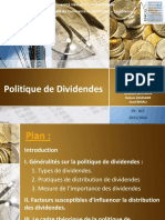 Politique de Dividendes