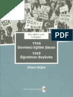 Ahmet Doğan 1968 Devrimci Eğitim Şurası 1969 Öğretmen Boykotu Bilim Ve Gelecek Kitaplığı
