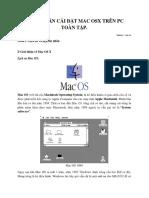Hướng Dẫn Cài Đặt Mac Osx Trên Pc