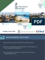 Índice de Calidad de Vida Urbana (ICVU), CChC 2018