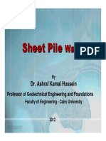 Sheet Pile Wall PPt