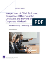 Perspectives of Chief Ethics and Compliance Oficers on the Detection and Prevention of Corporate Misdeeds
