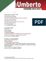 Calendario Sala Umberto - stagione 201872019