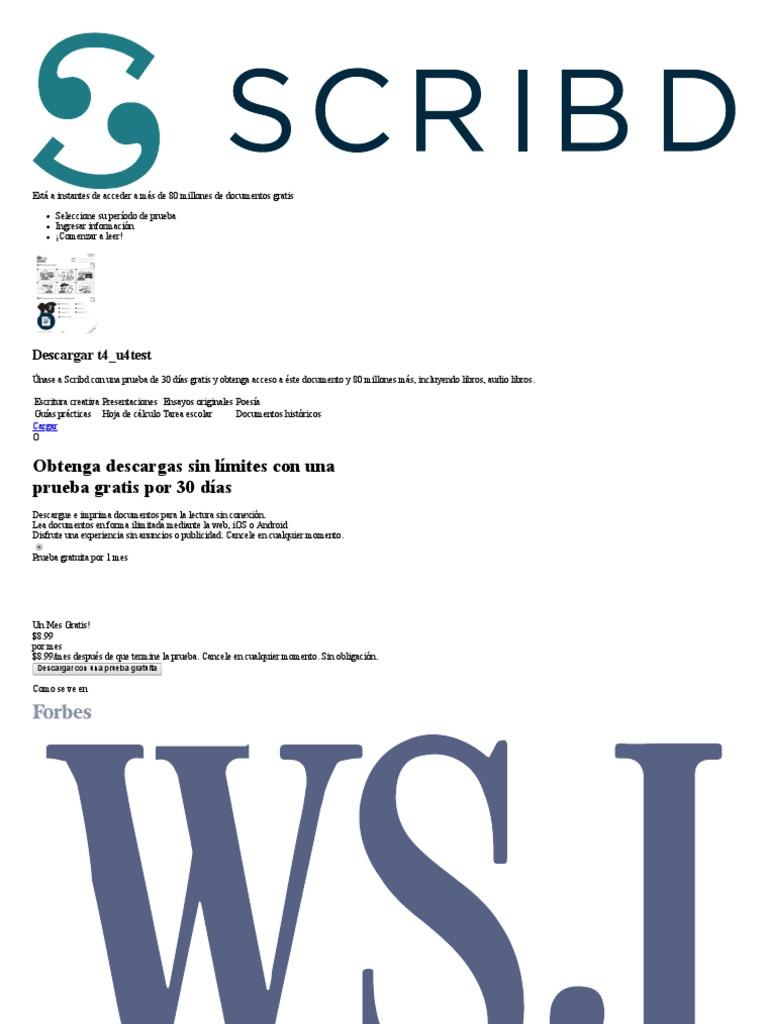 documenti scribd gratis