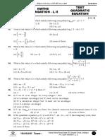 Maths Test _FOndation