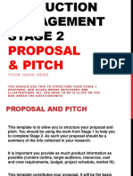 Proposal and Pitch