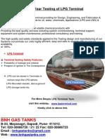 10 Year Testing of LPG Terminal Tank