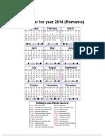 Year 2014 Calendar – Romania.pdf