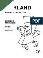 92 Manuel Instruction BROYEUR BG 65