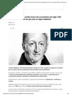 Thomas Malthus y sus prediccionesde Las Que Aún Se Sigue Hablando - BBC Mundo