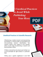 Unethical Research Practices