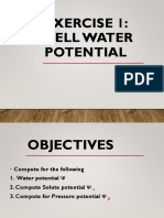 CELL WATER POTENTIAL