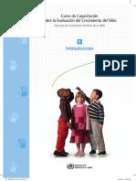 2008. OMS. Curso de Capacitación Para La Evaluación de Crecimiento Del Niño