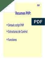 1 Resumen Sintaxis PHP