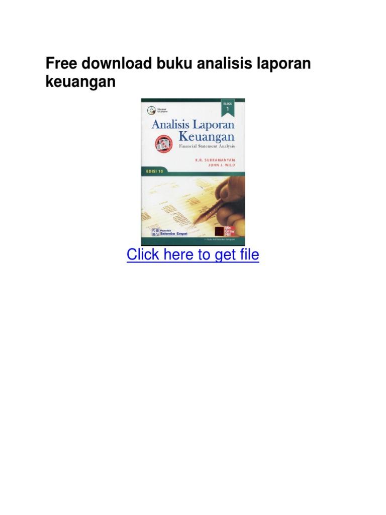 Free Download Buku Analisis Laporan Keuangan