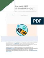 Cómo Habilitar Puerto USB Deshabilitado en Windows 10