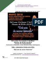 TEATRO DE LA SENSACION-Taller de Narración de Historias-contar Con El Otro-mayo 018