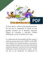El 23 de Abril Se Celebra El Día Mundial Del Libro