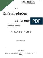 Ribot, T. (1899). Las Enfermeddes de La Memoria (Ed. Original en 1881)