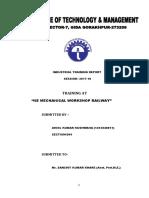 Industrial Training Report by Akhil Kushwaha