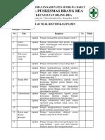 Daftar Tilik Identifikasi Pasien