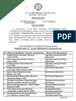 Equivalenc Board List 2018