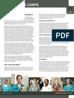 U.S. Army Nurse Corps Fact Sheet