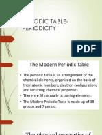 Periodic Table Periodicity
