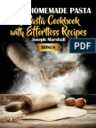 Tasty Homemade Pasta the Pasta Cookbook With Effortless Recipes