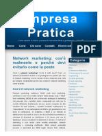 Network Marketing_ Cos'è Realmente e Perché Devi Evitarlo Come La Peste – Impresa Pratica