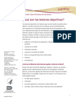 Sports Injuries Ff Espanol