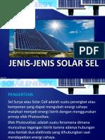 Jenis-jenis Solar Sel