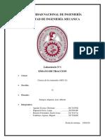 Ensayo de Traccion Informe FINAL
