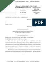 Fifth Circuit Ruling in SEC v Mark Cuban