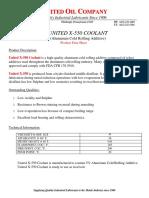 X-550 Coolant Product Bulletin