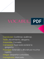 VOCABULARIO Lectura lenguaje
