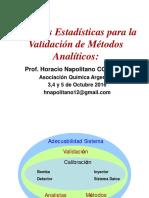 Técnicas Estadísticas Para Validación de Métodos de Análisis 2016expFINAL
