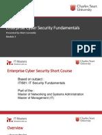 CyberSecurity Short Course - Week 3