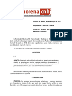 Acuerdo Levantamiento MC CNHJ ZAC 294 18
