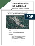INFORMACION SECUNDARIA DE DISTRITO DE FRIAS, PROVINCIA DE AYABACA, DEPARTAMENTO DE PIURA