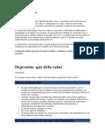 Depresion Según La Oms