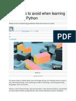 3 Common Python Errors